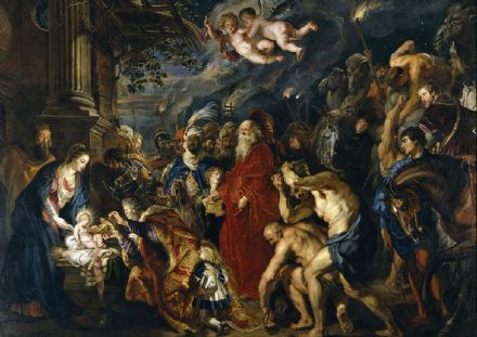 Rubens, Peter Paul: The Adoration of the Magi. Fine Art Print/Poster. Sizes: A1/A2/A3/A4 (002122)